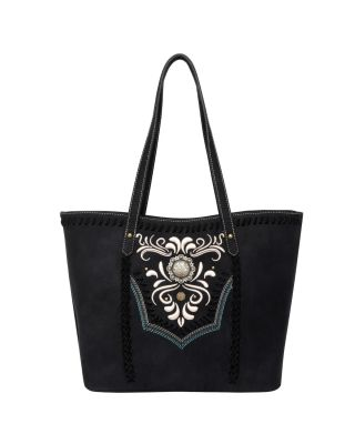 WG08-G8317 BK Wrangler Embroidered Concealed Carry Tote(Wrangler by Montana West)