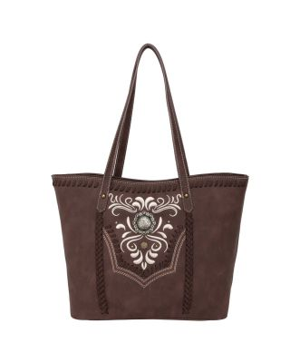 WG08-G8317 CF Wrangler Embroidered Concealed Carry Tote(Wrangler by Montana West)